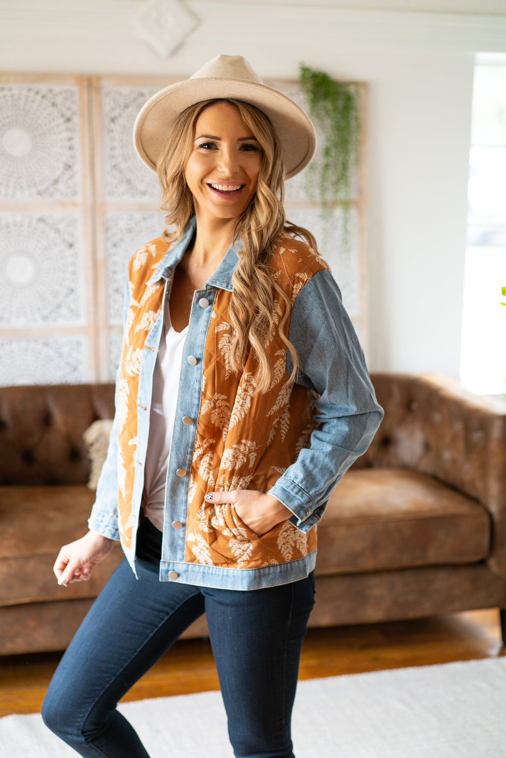 The Rae Floral Denim Jacket