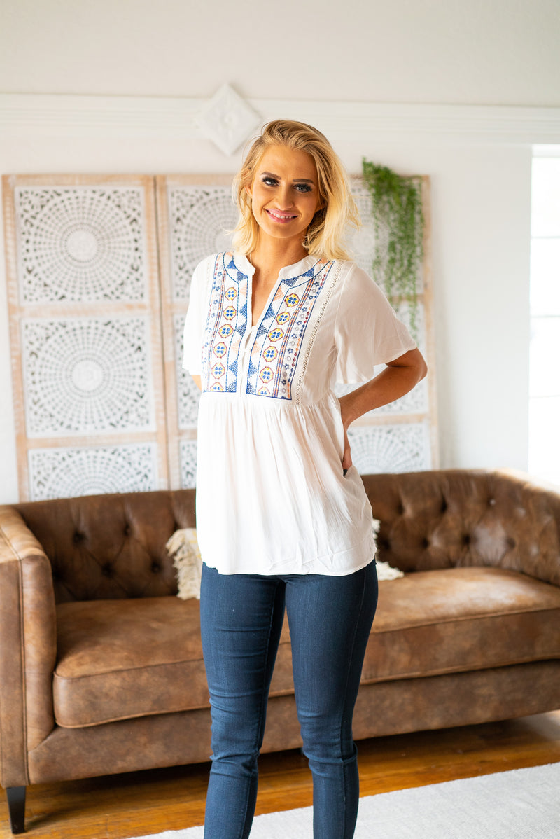 The Juniper Embroidered Top