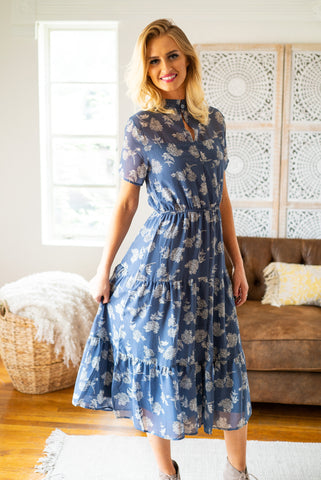 The Winley Mixed Print Dress (Sizes S-3X)