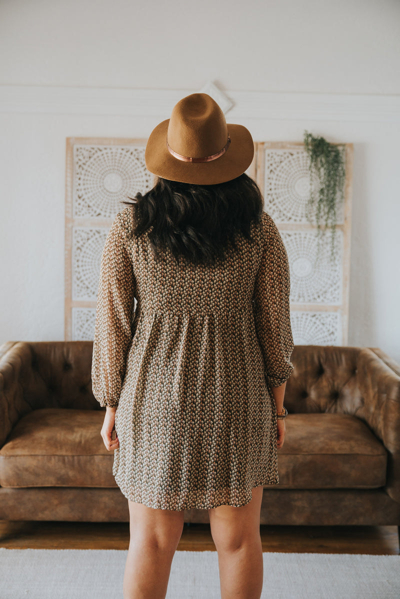 The Camber Embroidered Dress in Olive