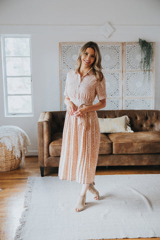 The Priya Sleeveless Maxi in Soft Peach