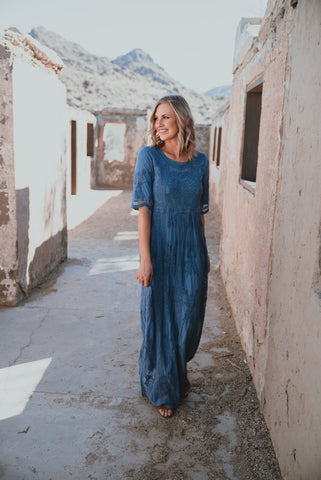 The Dansant Floral Maxi in Navy