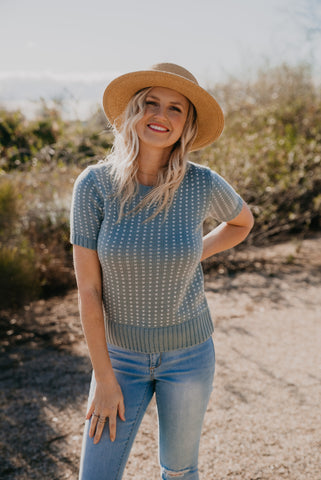 The Solstice Boho Top in Teal