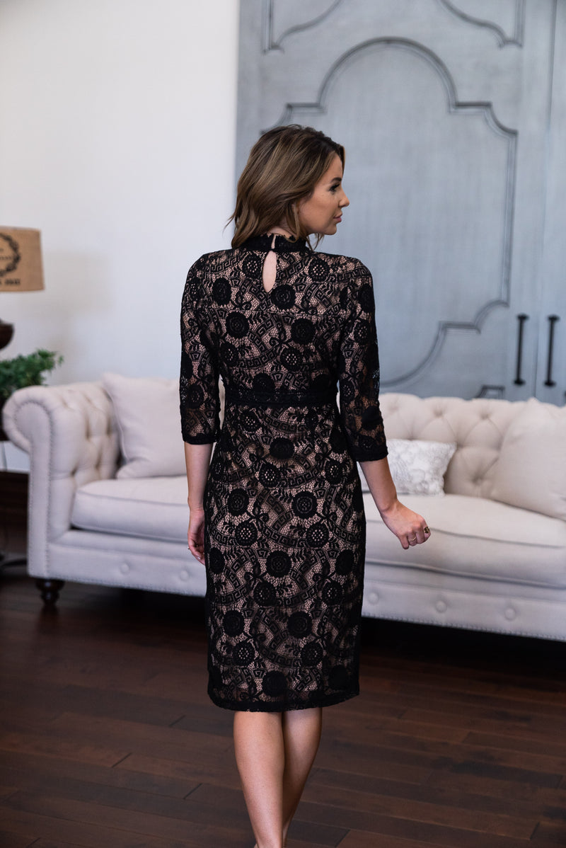 The Odette Lace Midi in Black