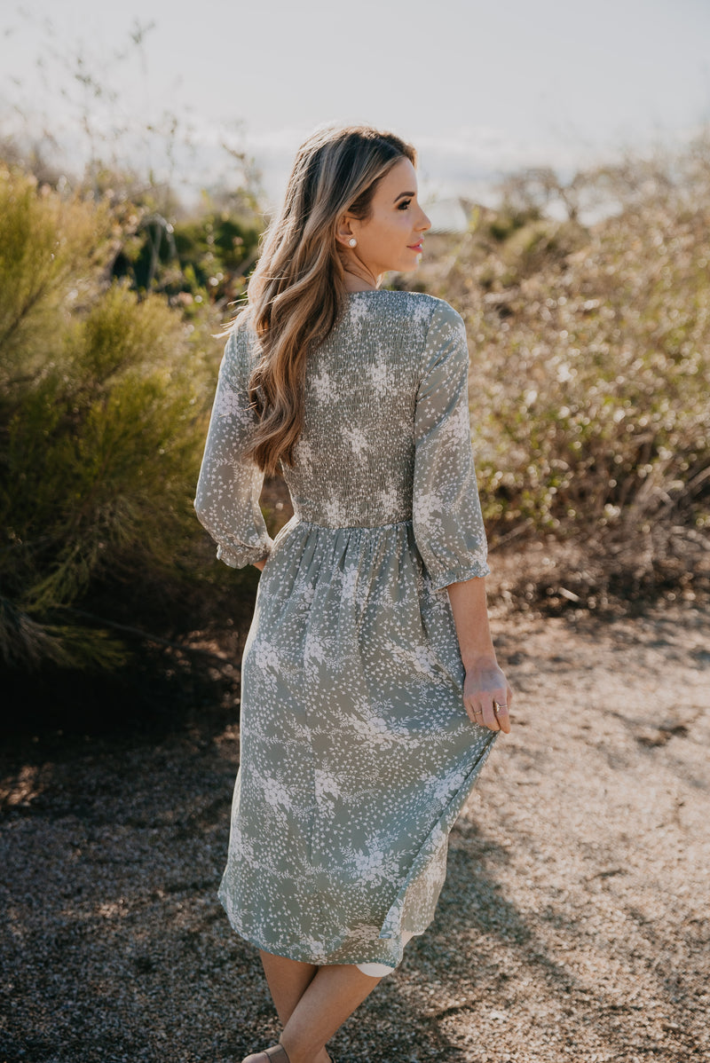 The Meisha Smocked Midi