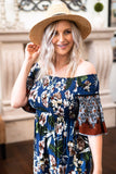 The Apia Floral Smocked Dress in Azure