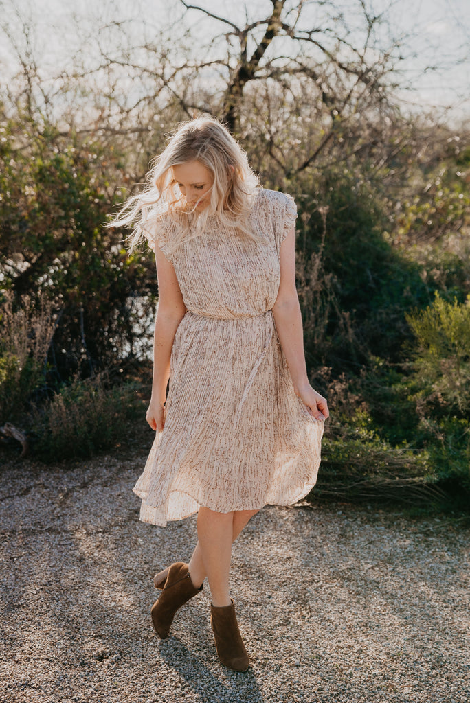 The Lowery Pleated Frock Dress