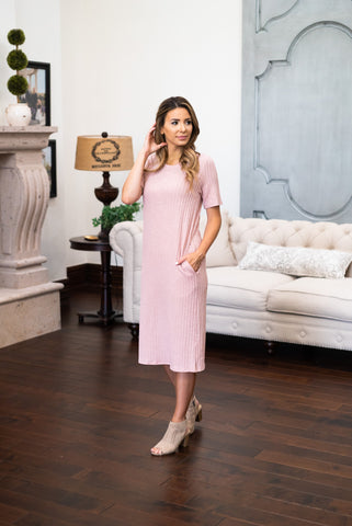 The Laine Embroidered Midi in English Rose