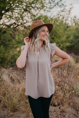 The Britt Pocket Tee in Olive