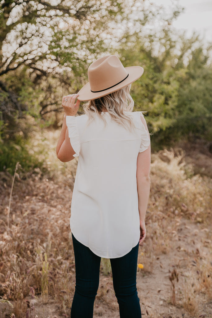 WI Basics: The Livy Ruffle Blouse in Cream