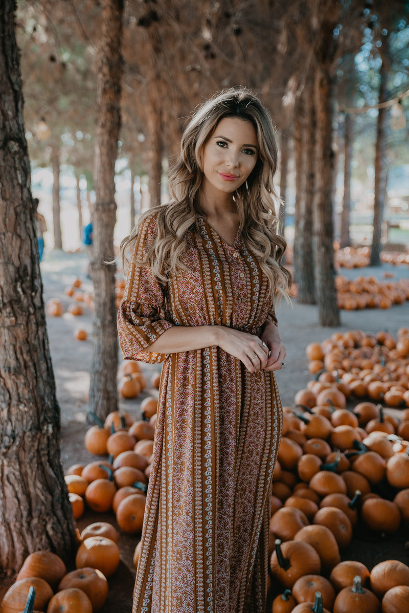 The Linden Bell Sleeve Maxi in Cider
