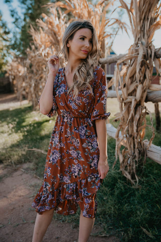 The Chimera Floral Maxi in Dusty Rose (Sizes S-XL)
