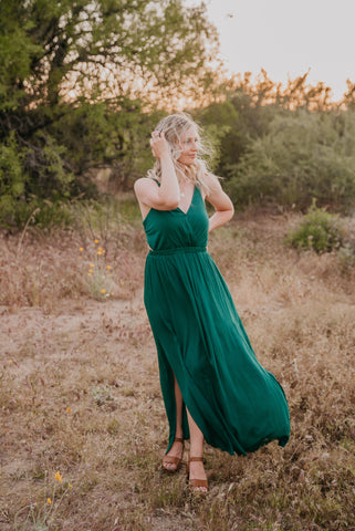 The Selena Lace Gown in Teal