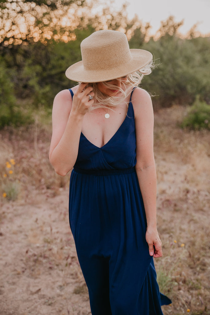 The Nico Solid Maxi in Navy