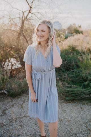 The Verona Smocked Maxi in Navy