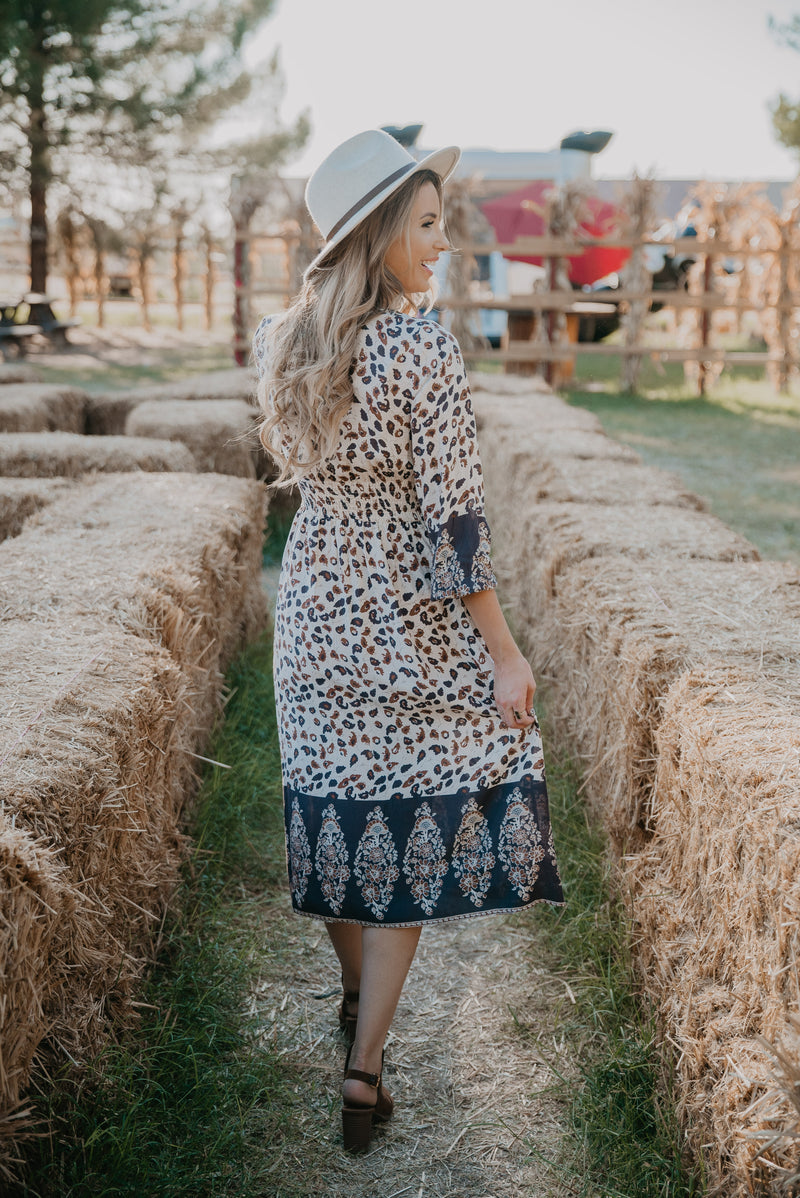 The Thandie Smocked Print Dress