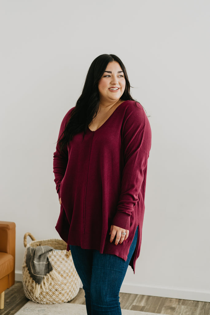 WI Basics: The Casi Hi-Lo Sweater  (Sizes S-3X)