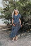 The Dansant Floral Maxi in Navy (Sizes S-3X)