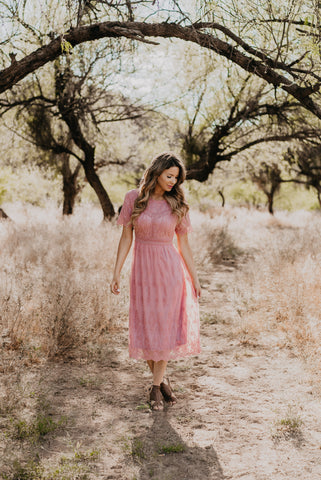 The Olanna Polka Dot Midi in Mauve