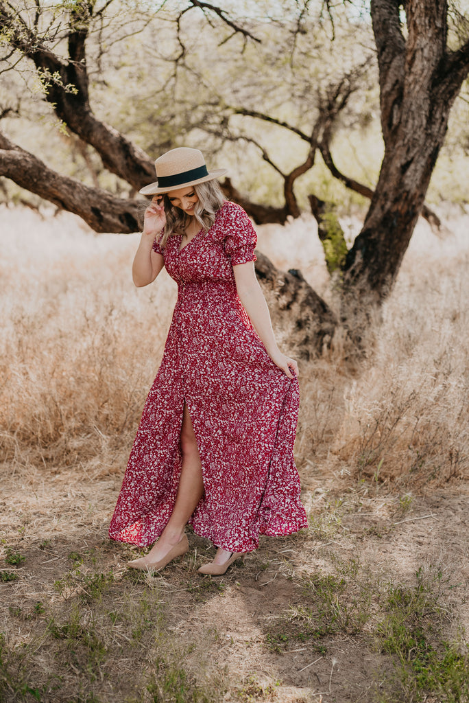 The Dansant Floral Maxi in Red