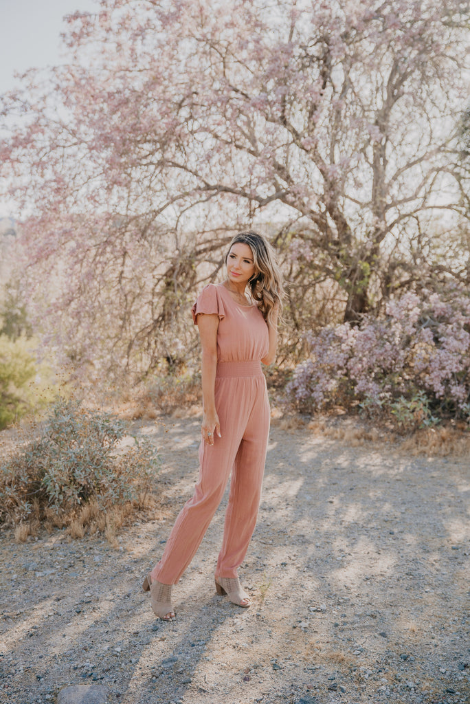The Dunes Jumpsuit in Camel