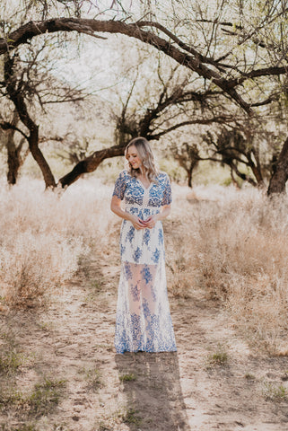 The Solid Maxi with a Twist in Navy