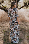 The Reese Floral Button Maxi: Winter Edition (Sizes S-3X)