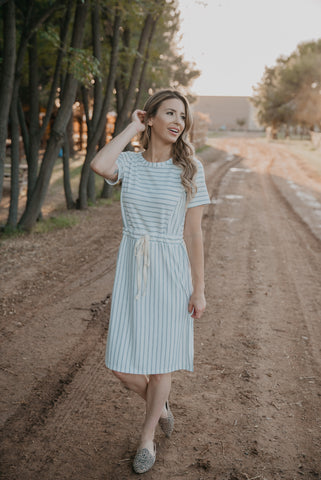 The Kierland Striped Shirt in Ivory (Sizes S-3X)