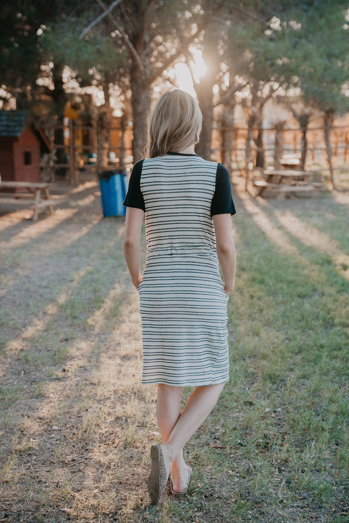 The Cody Striped Midi