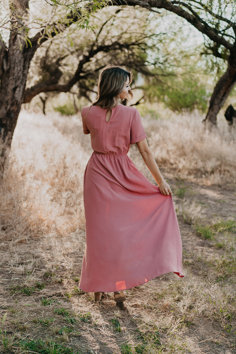The Dakota Faux Wrap in Rose