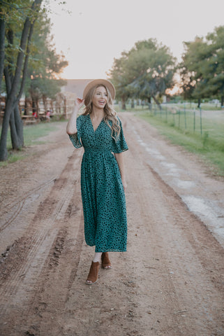 The Verona Smocked Maxi in Olive