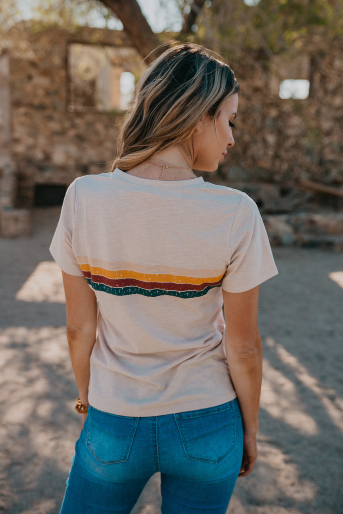 The Funshine Vintage Rainbow Tee