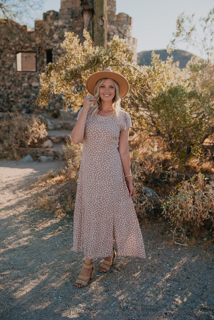 The Mosina Print Maxi in Dusty Mauve