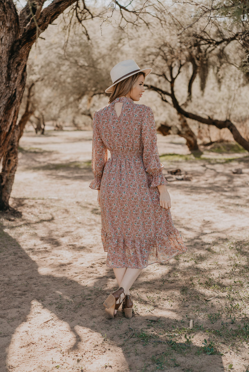 The Abilene Floral Midi in Mauve