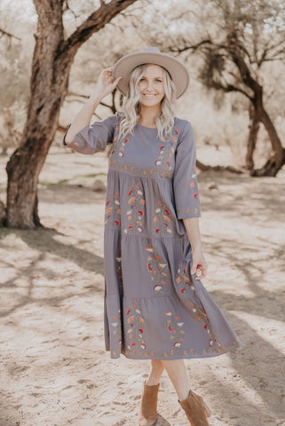 The Saratoga Striped Maxi in Olive