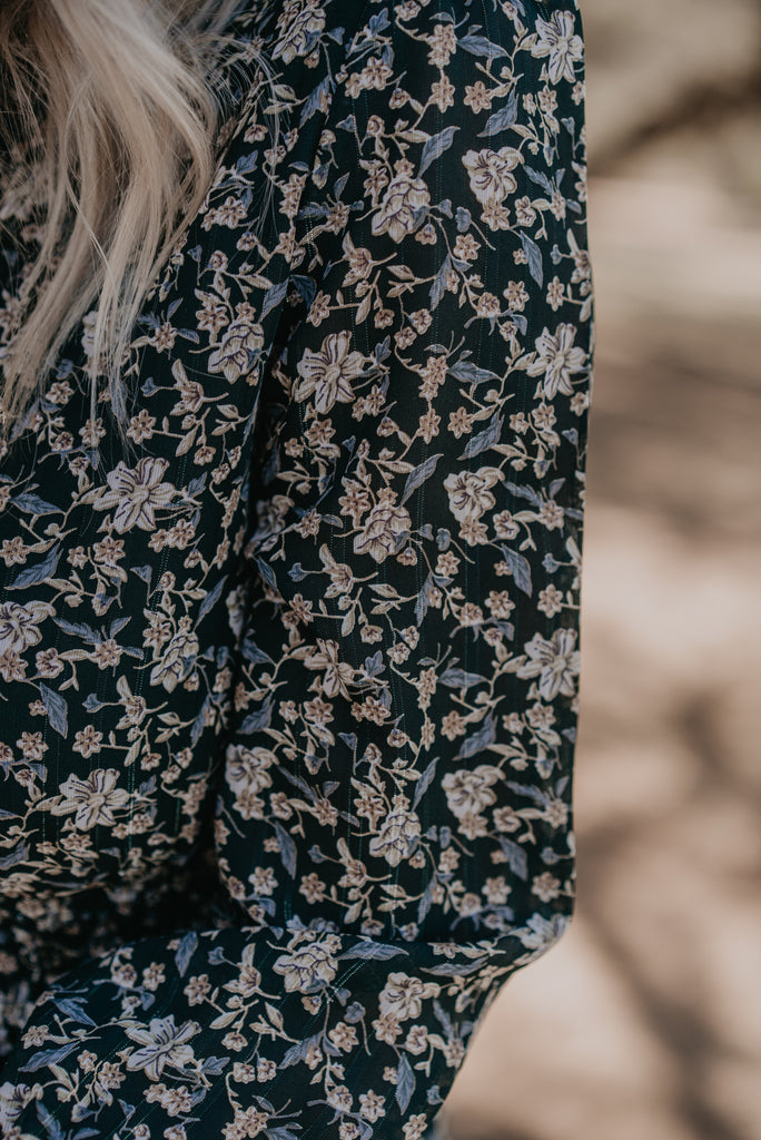 The Abilene Floral Midi in Dark Forest