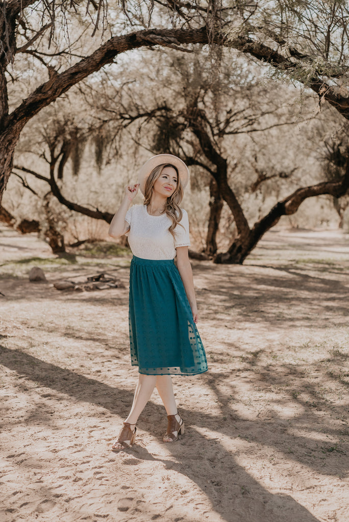 The Kimball Midi in Hunter Green (Sizes S-3X)