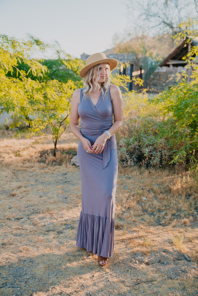 The Madara Sleeveless Maxi in Purple