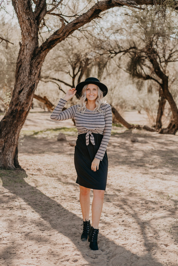 The Eames Striped Sweater Dress