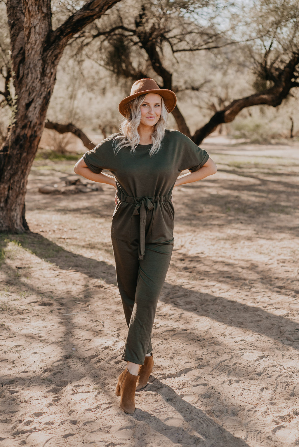 The Dallas Jumpsuit in Olive