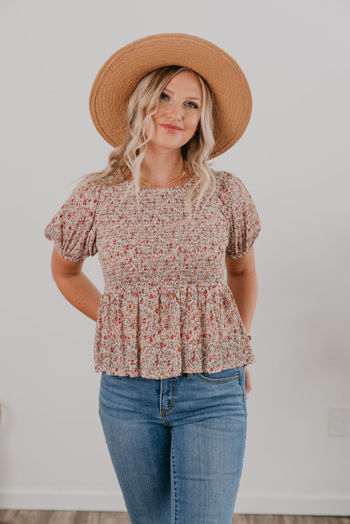 The Polina Smocked Top