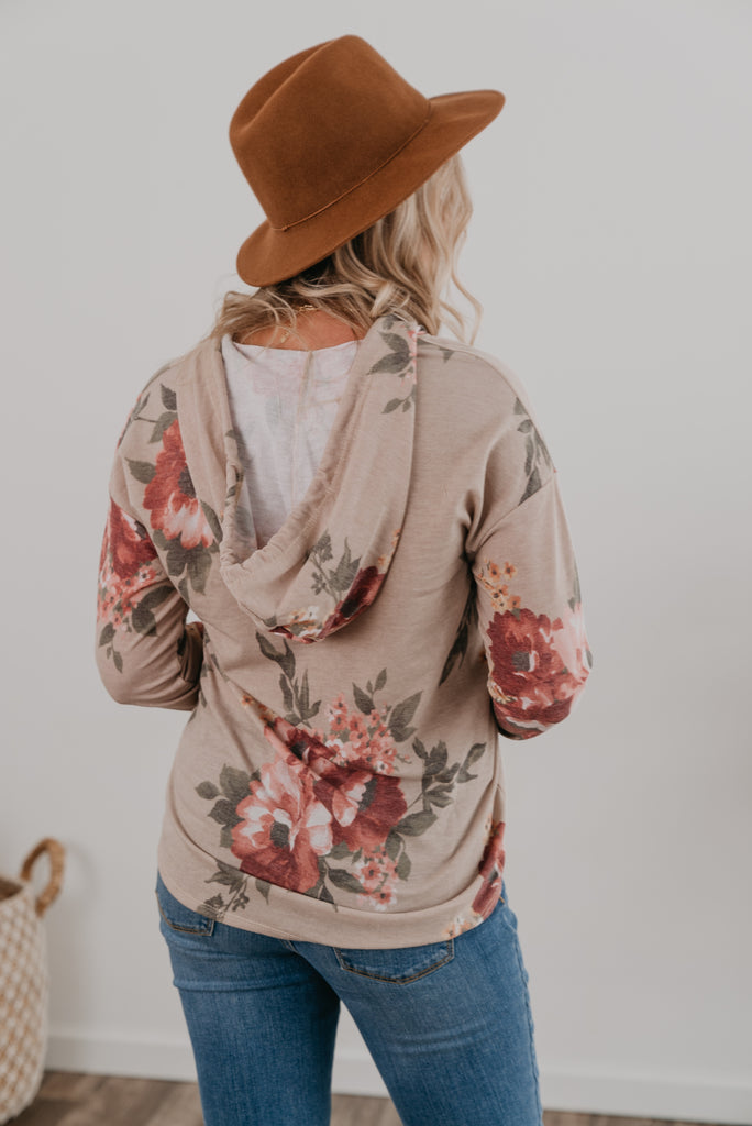 The Shayna Floral Hoodie (Sizes S-3X)