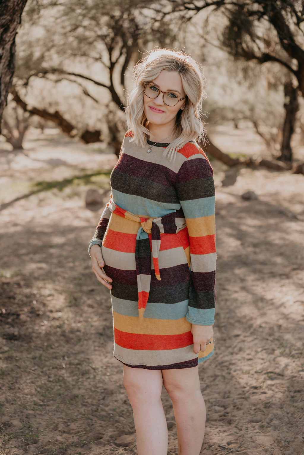 The San Tan Striped Button Dress