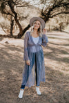 The Durham Lace Duster in Grey