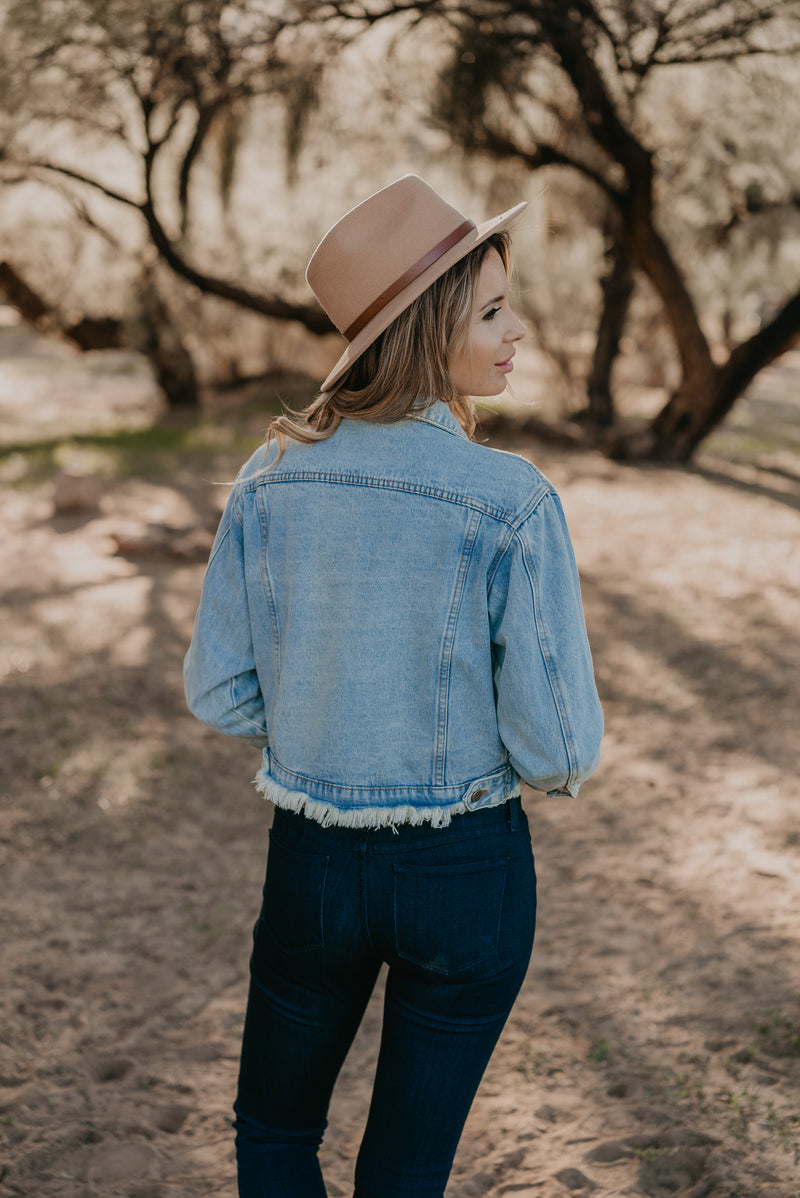 The Crawley Cropped Denim Jacket
