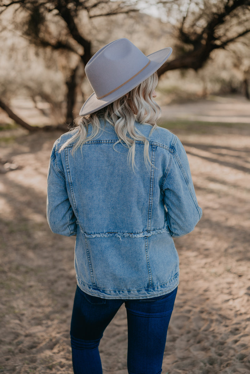 The Sheridan Denim Jacket in Medium Wash