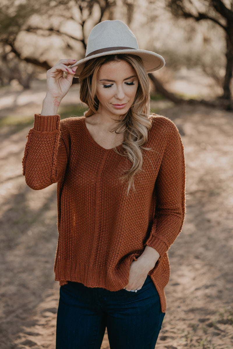 The Felix Sweater in Pumpkin Spice