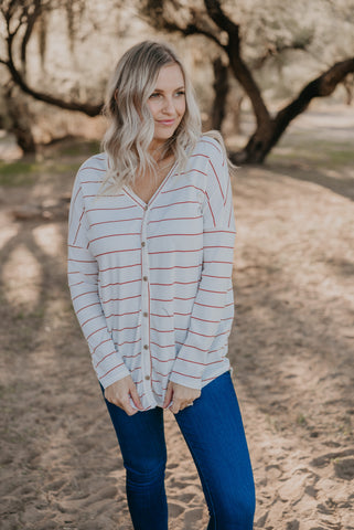 WI Basics: The Aida Button Blouse in Ivory (S-3X)
