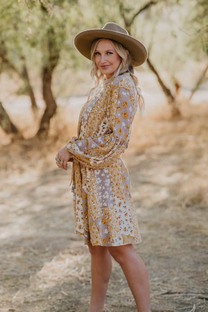 Wren & Ivory, Wren and Ivory, Boutique Clothing, Online Boutique, Instagram Boutique, Influencer Style, Mom Style, Cool Mom, Nursing Friendly, Long Sleeve Dress, Long Sleeves, Nursing Buttons, Boho, Boho Dresses, Fall Dress, Fall Outfits, Fall Fashion, Mini Dress, Mixed Print, Floral Print, Floral Dress, Dress, Dresses, Sunday best, Wedding Guest Dresses, Wedding guest, new Mom, parenthood