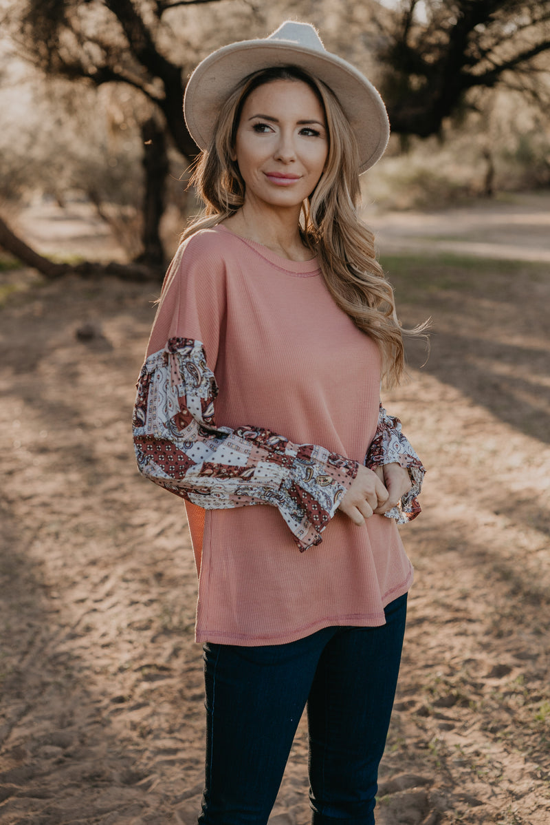 The Treviso Knit Top in Mauve